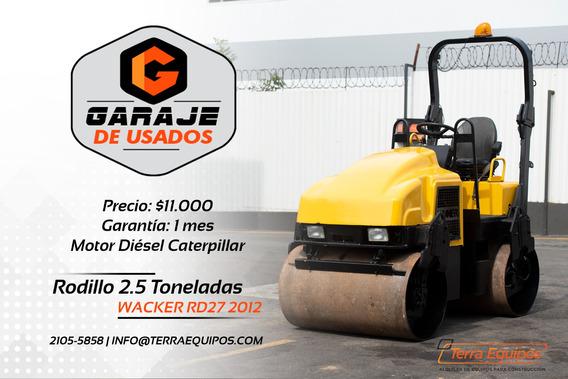 Rodillo De 2.5 Toneladas Wacker Rd27 2012