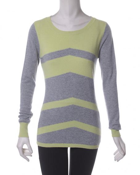 Suéter Verde Con Gris C.z Falconer