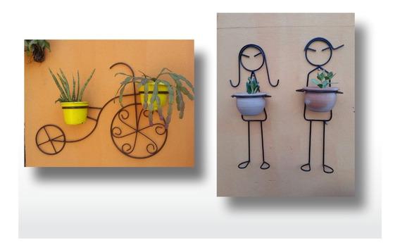 Kit Bicicleta Mais Casal Suporte Para Plantas