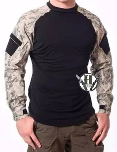 Remera Tactica Combat Shirt Us Acu Digital Rip Stop Polic G1