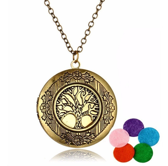 Medalhão Relicário Místico Árvore Da Vida Yoga Buda Reiki