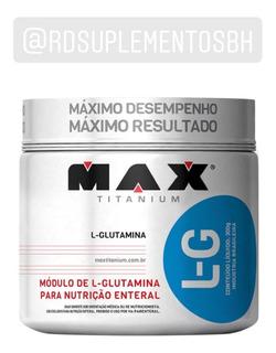 Glutamina L-g 300 G - Max Titanium - Rd Suplementos Bh