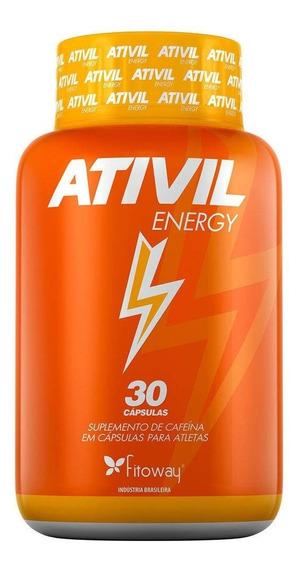 Energia Ativada - Ativil Energy Cafeina 105mg 30 Cápsulas