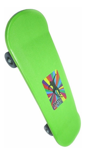 Skate Infantil Plástico 4 Rodas Brinquedo