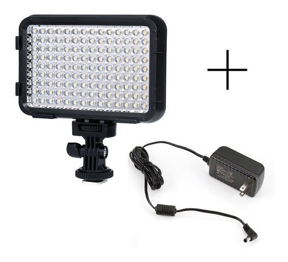 Iluminador Led Pro Hd-126 + Fonte Canon Nikon Pentax Dslr