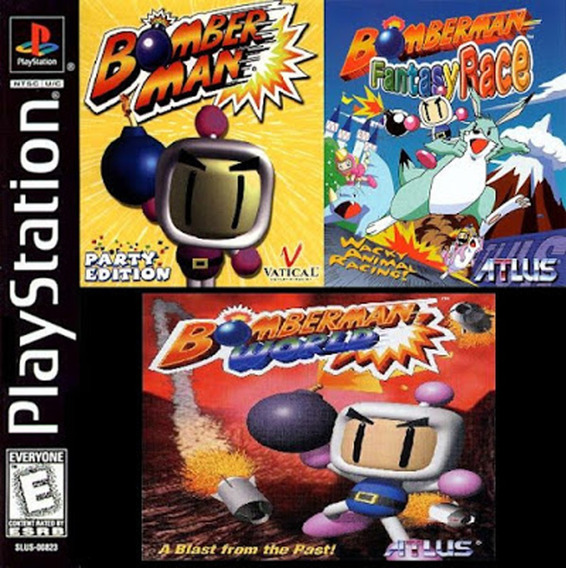 Bomberman 3 X 1 - Playstation 1 - Compilation - Jogo Play 1