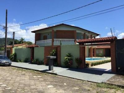 Linda Casa No Campos Eliseos Em Itanhaém, 200 Metros Do Mar