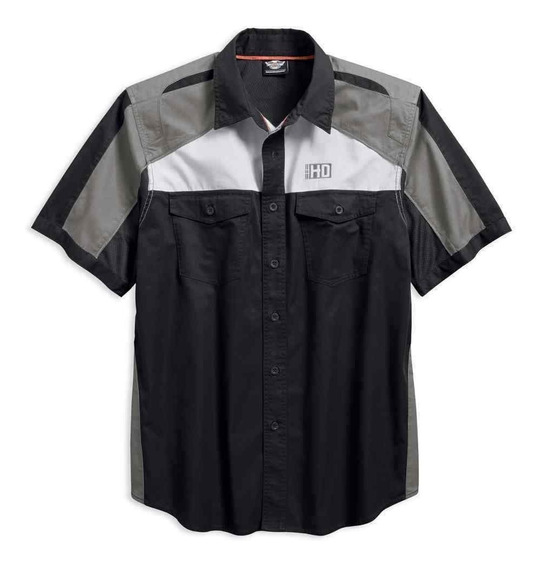 Harley Davidson Camisa Performance Garage Colorblock