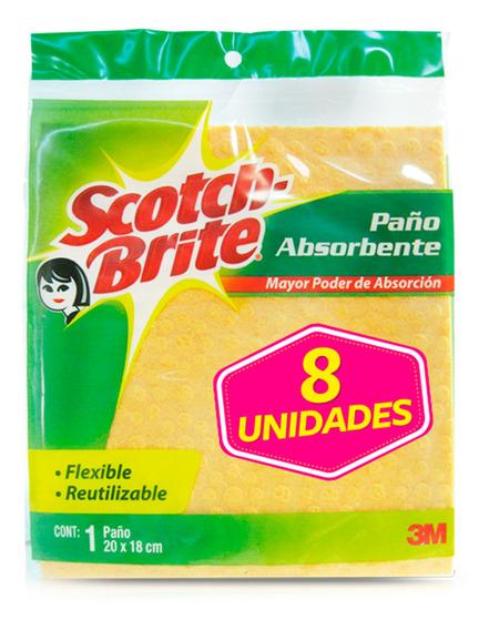3m Scotch-brite Paño Absorbente Pague 6 Lleve 8
