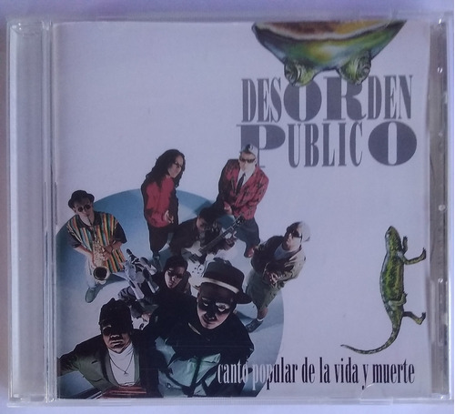 Desorden Público. Canto Popular. 1ra Edic Cd Original, Nuevo