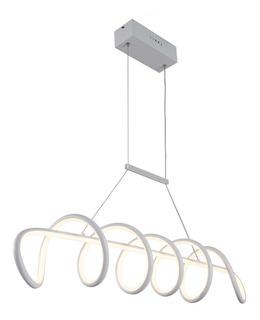Candil De Led Colgante Modernista 50w Leon (blanco)