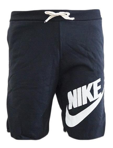 Bermuda Nike Moletom Preta