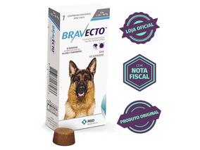 Bravecto Original Para Cães De 20 A 40kg Com Nota Fiscal