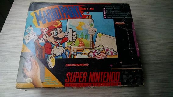 Mario Paint Super Nintendo Snes Na Caixa Completo