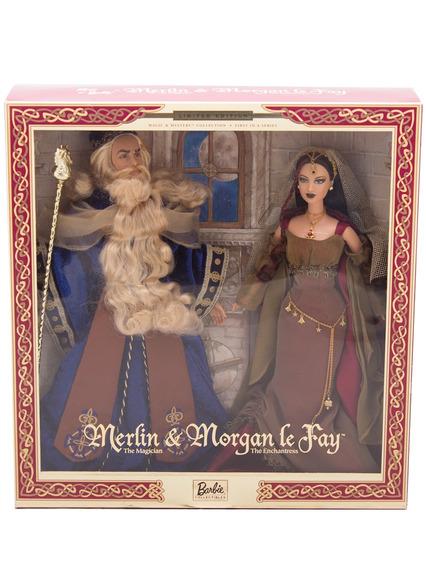 Bonecos Barbie Collector Merlin E Morgan Le Fay Giftset - Ma