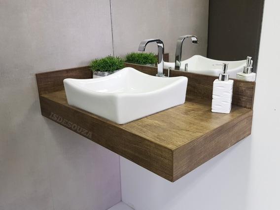 Bancada Banheiro Porcelanato (80 X 45) C/ Cuba De Louça