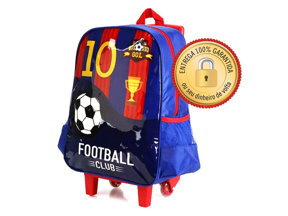 Mochilete Mochila Infantil Futebol Club C/ Rodinhas