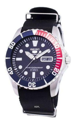 Seiko 5 Sports Automático Snzf15k1-pulseira Nato