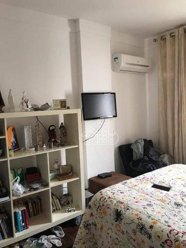 Apartamento Com 2 Dormitórios À Venda, 90 M² Por R$ 450.000,00 - Icaraí - Niterói/rj - Ap3442
