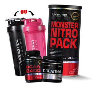 Monster Nitro Pack No2 44 Pack + Creatina + Bcaa Probiótica