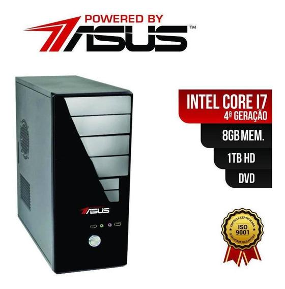 Computador Core I7 4º Ger. 8gb Ram Hd 1tb Gravador Dvd E Cd
