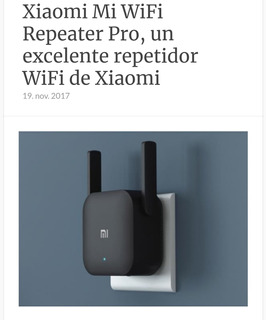 Repetidor Wifi Xiaomi Pro 2 Nuevos Excelente Alcance