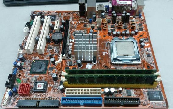 Kit Placa Mãe Itautec St 1350 Ddr-2 De 1g + Dual-core 2180