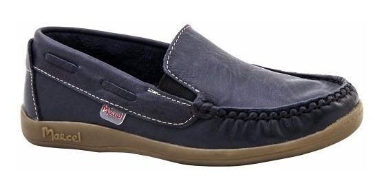 Zapatos Náuticos Marcel Cuero 34/40 Varón Azul Ó Marrón