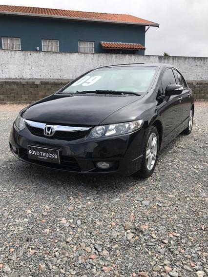 Honda Civic Exs Completo Couro Automático Top De Linha