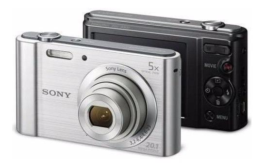 Câmera Digital Sony W800 Cyber Shot 20.1mp Tela Lcd Hd