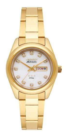 Relógio Orient Feminino Automático 559gp010 B1kx Aço Dourado