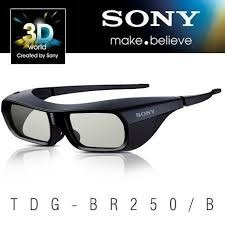 Óculos 3d Sony Tdg-br250/b Recarregável - Preto