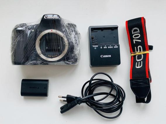 Câmera Canon Eos 70d (corpo) Em Ótimo Estado 12x S/juros