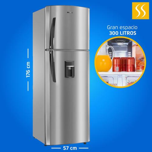 Refrigeradora Mabe 300lt 15pies Croma Con Dispensador Acero
