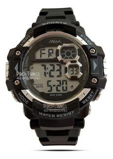 Reloj Hombre Sumergible 50m Deportivo Luz Alarma Cronometro
