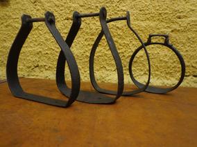 Antigo Lote De Estribos Em Ferro - C 6354
