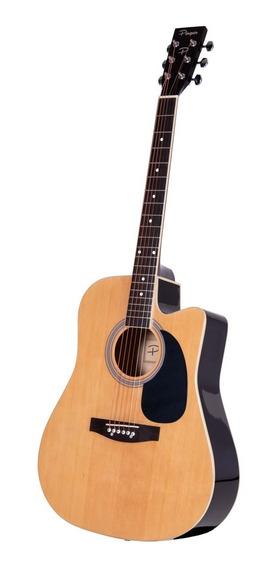 Guitarra Acustica Parquer Master Corte Marron Cuota