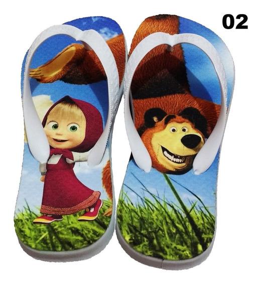 Chinelo Personalizado Marcha E O Urso