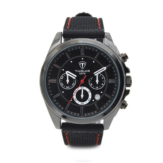 Relógio Masculino Tuguir Analógico 5048 Preto Nota Fiscal 1 Ano Garantia Baixo Preço Imperdível