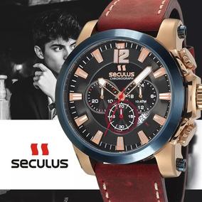 Relógio Masculino Tronos Seculus Cronógrafo 100 Metros