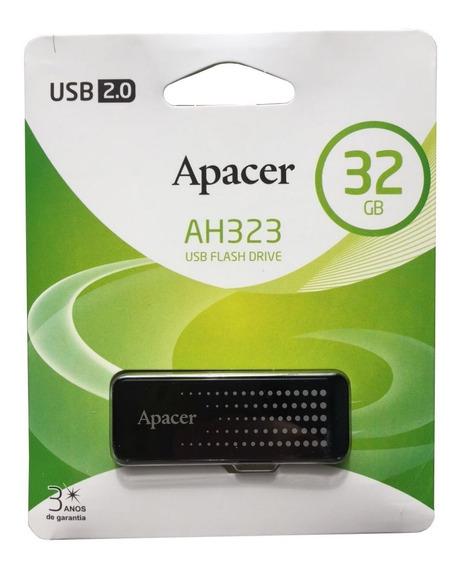 Pen Drive 32gb Apacer - Preto - Ah323 - 2.0