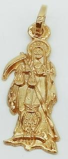 La Santa Muerte Dije En Chapa De Oro De 18 Kilates