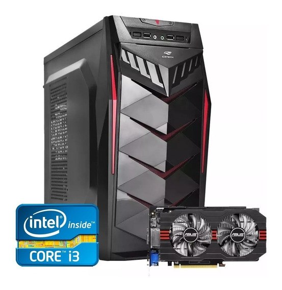 Pc Gamer Core I3 + Rx 550 2gb + 8gb Memória + Hd 500gb