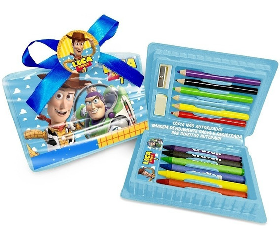 35 Estojo Toy Story Maleta Escolar Lapis Pintura Lembrança