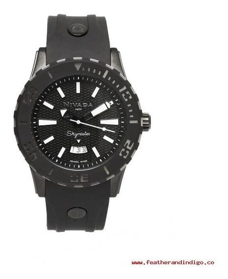 Reloj Nivada Np11203mnebi Caballero Skymaster Negro