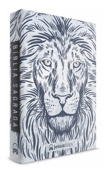 Bíblia Jesus Copy Leão Branco Capa Dura Naa Novidade