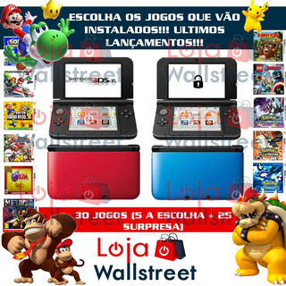 Nintendo 3ds Xl Pokemon Mario Zelda, 30 Jogos + Estojo(case)