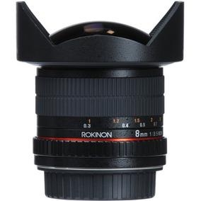 Lente Rokinon Fisheye 8mm F/3.5 Hd P/ Canon -lacrado- P.ent