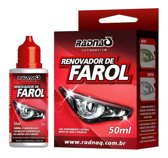 Renovador De Farol Acrilico Limpa Renova Remove Fosco Radnaq