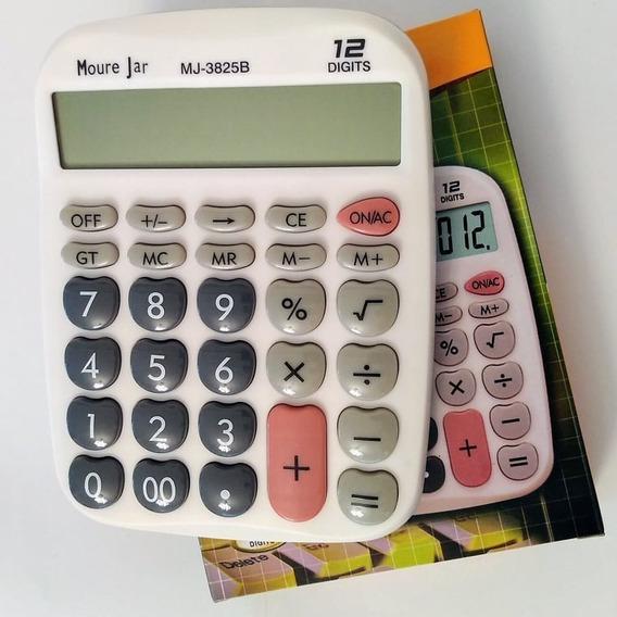 Calculadora Grande C 12 Digitos De Mesa Balcão Escritório Mj